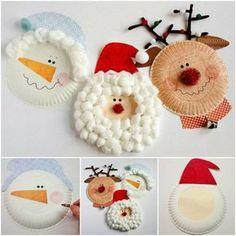 Basteln mit 2jährigen Kinder Weihnachtsdeko