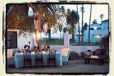 I love our wedding venue: Decor Ideas-Patio of the Stars