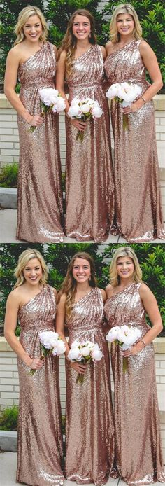 Sequin Bridesmaid Dress, Bridesmaid Dress For Cheap Bridesmaid Dresses 2018 Inexpensive Bridesmaid Dresses, Bridesmaid Dresses 2017, Champagne Bridesmaid Dresses, One Shoulder Bridesmaid Dresses, Sequin Prom Dresses, Affordable Prom Dresses, Sexy Wedding Dresses, Party Dresses, Dresses Dresses