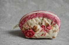 Borsellino portamonete in stoffa floreale - coin purse homemade with floral fabric