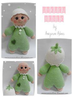 Sleepy Sarah the baby gnome Diy Crafts Crochet, Cute Crochet, Crochet Baby, Crochet Projects, Amigurumi Doll, Amigurumi Patterns, Doll Patterns, Crochet Doll Pattern, Crochet Dolls