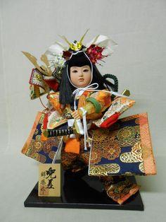 Japanese GOGATSU NINGYO Cloth Doll 34cm / KABUTO Helment