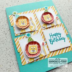 Lion Birthday, Kids Birthday Cards, First Birthday Pictures, Stamping Up Cards, Animal Cards, Kids Cards, Men's Cards, Scrapbook Cards, Scrapbooking