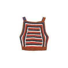 Rachel Comey Striped crochet cropped top found on Polyvore featuring polyvore, women's fashion, clothing, tops, crop top, shirts, multi, striped shirt, graphic tops and cut-out crop tops