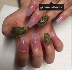 Real Weed On Her Nails  By:@gimmedatbecca  Nails:@_kal0n #nailgasm #Nails  #shareig