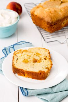 Peaches & Cream Pound Cake  - Delish.com