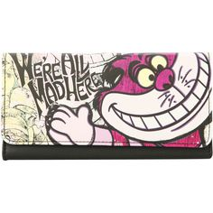 Disney Alice In Wonderland Cheshire Cat Flap Trifold Wallet New With Tags! Cat Wallet, Cat Bag, Cat Accessories, Cheshire Cat, Handmade Bags, Hot Topic, Purses And Handbags, Alice In Wonderland, Cats