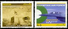 Pakistan Air Force Second to None #pakistan postage stamp