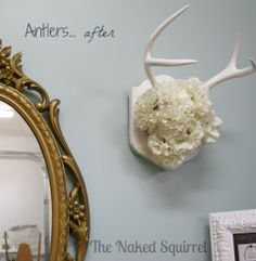 www.thenakedsquirrel.com   antler project tutorial, posted under blog