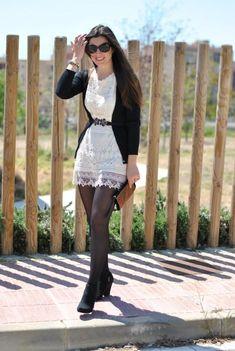 Résultats de recherche d'images pour « outfit vestidos y medias Hot Outfits, Dress Outfits, Fall Outfits, Casual Outfits, Fashion Dresses, Nylons, Outfit Vestidos, Mode Rockabilly, Look Girl