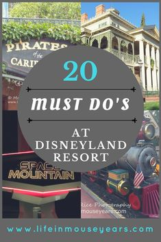 20 Must Do's at Disneyland Resort.There are so many fun things to do at the Disneyland Resort. Click to find out a list of 20 things to get you started!