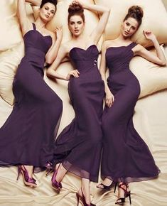 Help with Bridesmaid dress colors please! :  wedding bridesmaids color dresses purple Bm Dresses