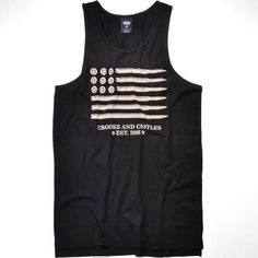 crooks and castles TANK TOP 13 007 schwarz