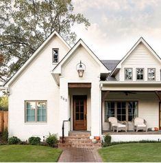 Here are some pictures about modern farmhouse exterior brick, hopefully they will inspire you all. modern farmhouse exterior brick Related S. Exterior Paint Colors, Paint Colors For Home, House Colors, Exterior Design, Exterior Trim, Paint Colours, Exterior Houses, Exterior Windows, Stone Exterior