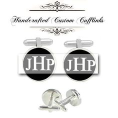 husband gift cuff link. $42.00, via Etsy.