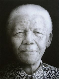 Nelson Mandela, chalk and conte on paper. Paul Emsley had one hour to spend with Mandela for this potrait study. Nelson Mandela, Amazing Drawings, Amazing Art, Awesome, Pencil Drawings, Art Drawings, Charcoal Portraits, Modern Portraits, South African Artists