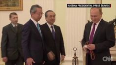 Putin's dog gives Japanese journalists an earful