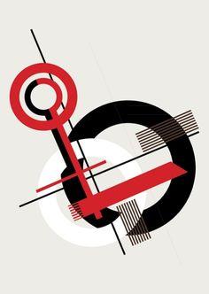 this design were used in the Bauhaus Conceptual Poster for School assignment. Bauhaus Art, Bauhaus Design, Russian Constructivism, Typographie Inspiration, Composition Art, Kunst Poster, Art Graphique, Grafik Design, Graphic Design Illustration