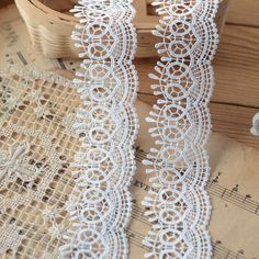 3 Yards Venice Lace Trim in White for Bridal Veils by Laceshine
