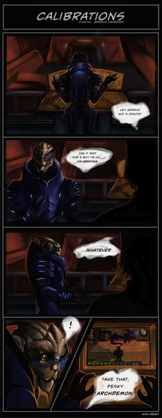 Hahahahahahaha! Garrus playing Dragon Age. That explains sooooo much.