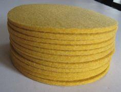 Dozen Lemon Yellow Coaster Set, Yellow Drink Coasters, Yellow Beverage Coasters. $39.00, via Etsy.