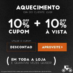 ATENÇÃO! Últimos dias de DESCONTÃO do Aquecimento para o Dia do Cliente! Aproveite! ;)  http://carrodemo.la/a1840