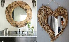 DIY driftwood heart mirror <3