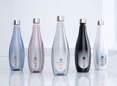 Lux - PET Engineering has considered the image of an upper class sinuous lady that plays with diamonds and other precious stones to be charming, elegant and radiant in her refined and magnificent elegance. The bottle's three dimensional decorations and the use of vivid and intense colours by REPI, reproducing the vibrant transparency of glass, produces an interesting refraction effect and the bottle shines bright like millions of diamonds in the sky.