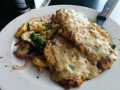 Coco Bolos ‏(#Manhattan Kansas) Chicken Marsala $16.99 Breaded chicken topped w/ a mushroom Marsala sauce. Served w/cilantro lime rice & veggies.