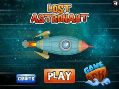 Ayuda a este astronauta a escapar de varios planetas, con el mouse realiza tareas para poder pasar cada nivel