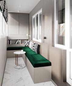 Small Balcony Decor, Balcony Design, New Living Room, Living Room Sofa, Home Room Design, House Design, Elegant Bedroom Design, Interior Balcony, Studio Room