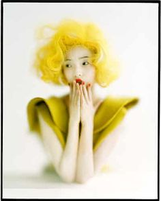 Tim Walker - in pictures: Tim Walker - Xiao Wen in Yellow Marilyn wig< High Fashion Photography, Glamour Photography, Light Photography, Editorial Photography, Amazing Photography, Portrait Photography, Lifestyle Photography, Tim Walker Photography, Wedding Tattoos
