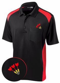 Darts Shirt ~ Red Atomic -- Men's cool looking tripple dart shirt.