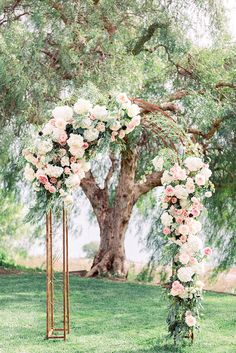 In our gallery of wedding arch decoration ideas we have details of flower decor, whole composition and awesome photos of lovely couples under arches. Wedding Ceremony Flowers, Wedding Ceremony Backdrop, Floral Wedding, Wedding Bride, Church Ceremony, Wedding Church, Trendy Wedding, Wedding Arches, Arch For Wedding