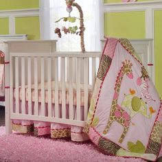 This is the bed set I want for our baby girl. It's adorable. :)