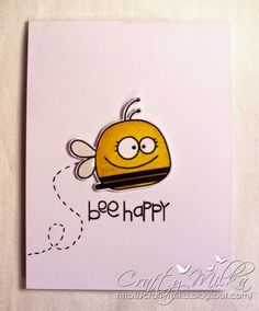 Bee Happy Mini Card #papersmooches