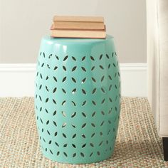 This Safavieh light-blue ceramic garden stool is designed to make your life easier. Standing at 18 inches, this stool can be used as a seat on your deck, decorative plant stand, or a table, and it's versatile enough for indoor or outdoor use.