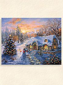 """""""Christmas Cottage"""" by Boehme Aluminum Wall Art"""