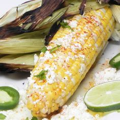 "The Best Grilled Corn-On-The=Cob, Mexican Street-Food Style I ""Elote, the sassed up corn-on-the-cob made famous by Mexican street-food vendors just might be your new favorite way to trick out your corn."""