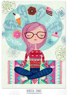 REBECCA-JONES-MAY - Meditation – Editorial Illustration