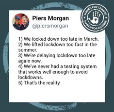 Piers Morgan, It Works, Nailed It