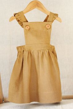 Handmade Linen Pinafore Dress | BloomingKiwi on Etsy