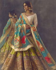 This kaleidoscope of colours is absolutely beautiful love this bridal ensemble by #AliXeeshan #bridalcouture #khamoshi #collection #plbw16 @alixeeshantheaterstudio