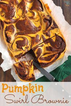 Must make! Pumpkin Swirl Brownies Recipe via SuperGlueMom