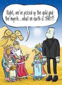 Ha! Merry-Hallow-Christmas humor #Frankenstein #Halloween #Christmas