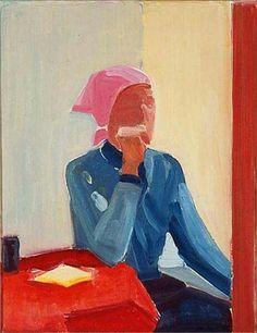 Louisa Matthiasdottir (Iceland 1917-2000) Self-portrait (1982) oil on canvas