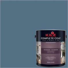 Kilz Complete Coat Interior/Exterior Paint & Primer in One #RD130-02 Iron Medallion, 1 gal, Flat, Gray