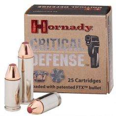 Hornady Critical Defense .380 ACP 90gr FTX HP 25 Rounds - 90080 - 090255900804