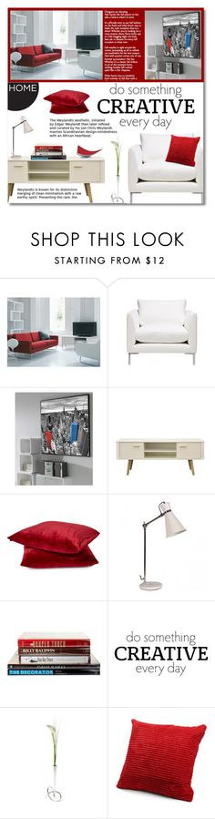 """""""Untitled #1051"""" by valentina1 ❤ liked on Polyvore featuring interior, interiors, interior design, home, home decor, interior decorating, Rodeo Home, Potterton Books, WALL and Black+Blum"""