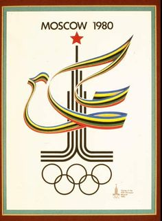 The United States chose to boycott the 1980 Olympic Games in Moscow because the Soviet Union refused to end their involvement in Afghanistan. 65 countries and regions invited to the games chose to boycott. This displayed the world's dislike of the USSR. History Of Olympics, Olympic Logo, Soviet Art, Soviet Union, Modern Games, Summer Olympics, Usa Olympics, Olympic Games, Olympic Gymnastics